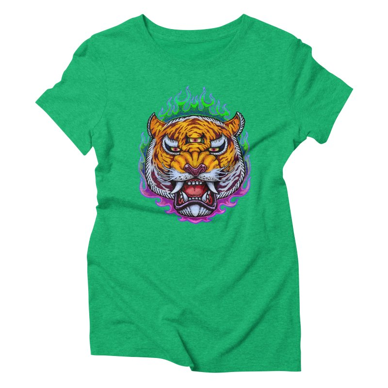 Third Eye Tiger Women's Triblend T-Shirt by villainmazk's Artist Shop