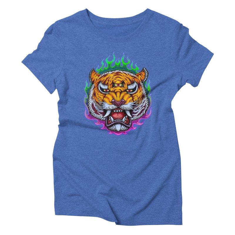 Third Eye Tiger Women's Triblend T-Shirt by villainmazk's Artist Shop