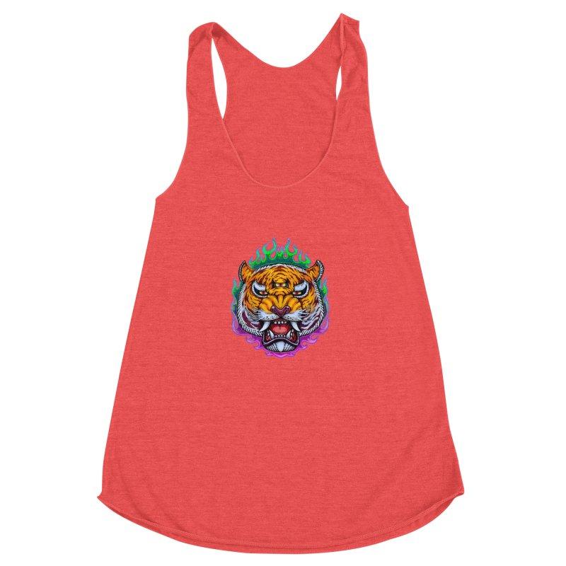 Third Eye Tiger Women's Tank by villainmazk's Artist Shop