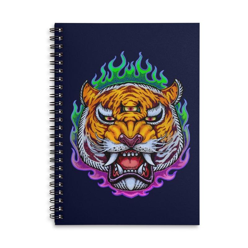 Third Eye Tiger Accessories Notebook by villainmazk's Artist Shop