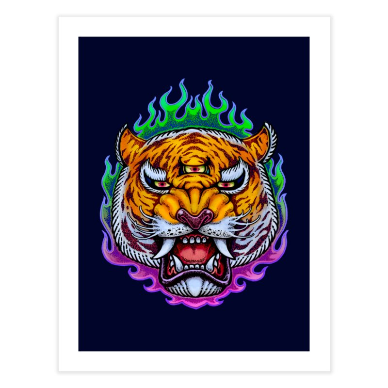 Third Eye Tiger Home Fine Art Print by villainmazk's Artist Shop