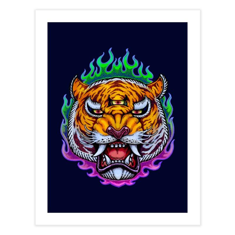 Third Eye Tiger Home Fine Art Print by villainmazk's Artist Shop