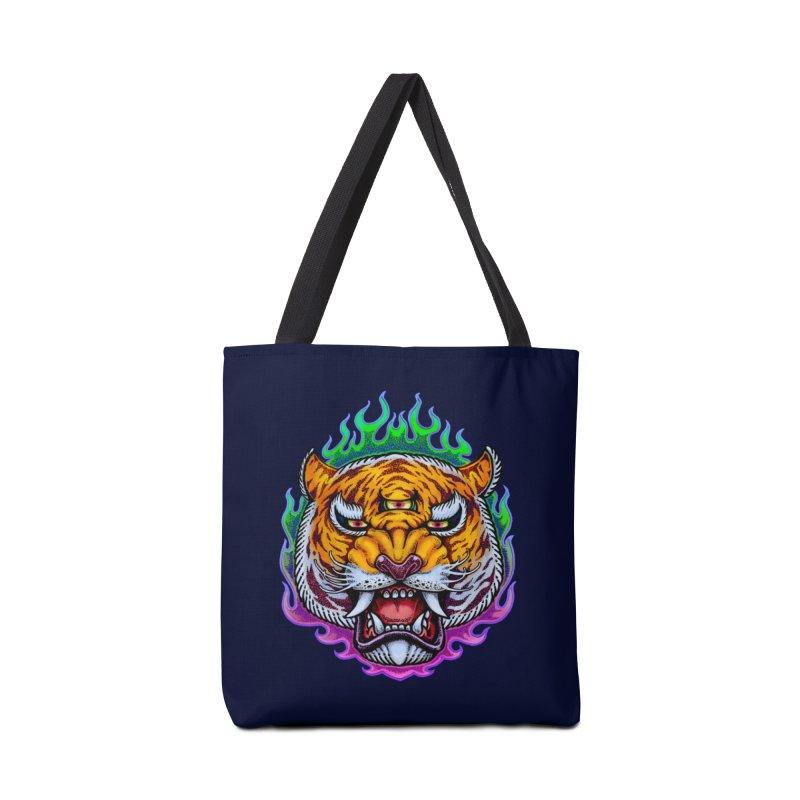 Third Eye Tiger Accessories Bag by villainmazk's Artist Shop