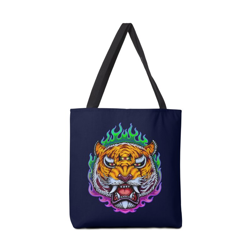 Third Eye Tiger Accessories Tote Bag Bag by villainmazk's Artist Shop