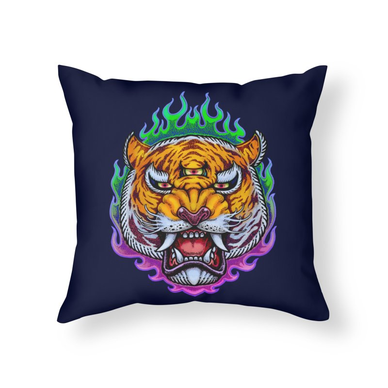 Third Eye Tiger Home Throw Pillow by villainmazk's Artist Shop