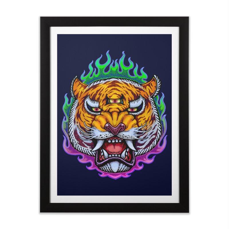 Third Eye Tiger Home Framed Fine Art Print by villainmazk's Artist Shop