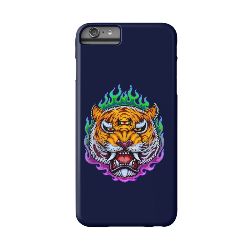 Third Eye Tiger Accessories Phone Case by villainmazk's Artist Shop