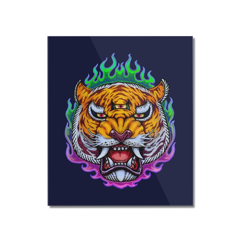 Third Eye Tiger Home Mounted Acrylic Print by villainmazk's Artist Shop