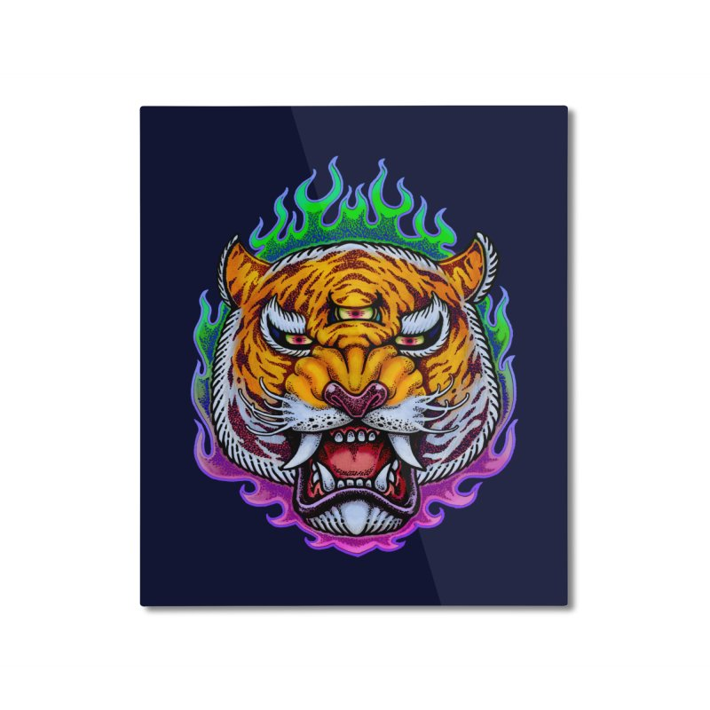 Third Eye Tiger Home Mounted Aluminum Print by villainmazk's Artist Shop