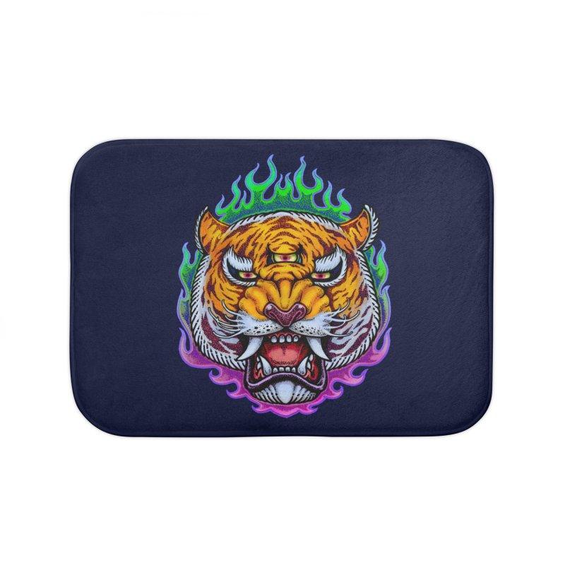 Third Eye Tiger Home Bath Mat by villainmazk's Artist Shop