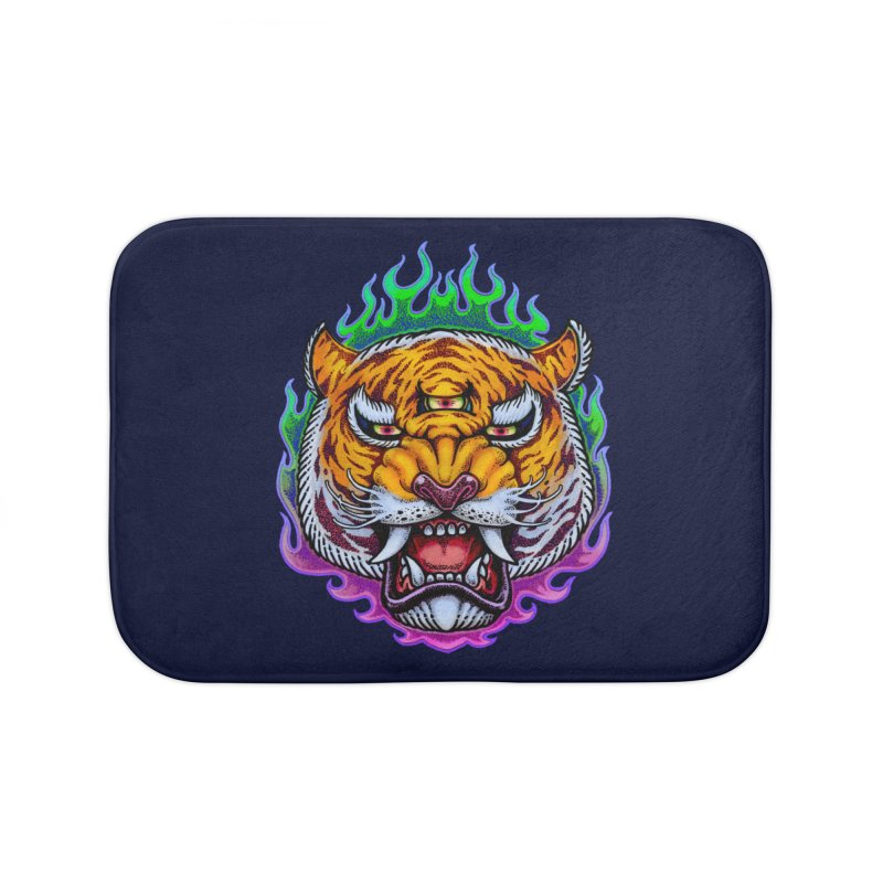 Third Eye Tiger Home Bath Mat by villainmazk's Artist Shop