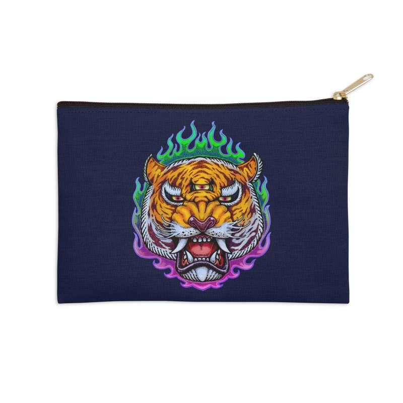 Third Eye Tiger Accessories Zip Pouch by villainmazk's Artist Shop