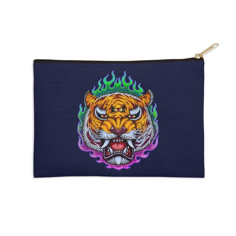 Third Eye Tiger Accessories Zip Pouch by villainmazk's Artist Shop