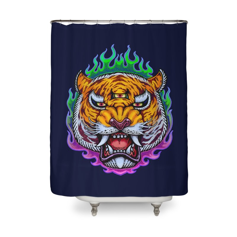 Third Eye Tiger Home Shower Curtain by villainmazk's Artist Shop