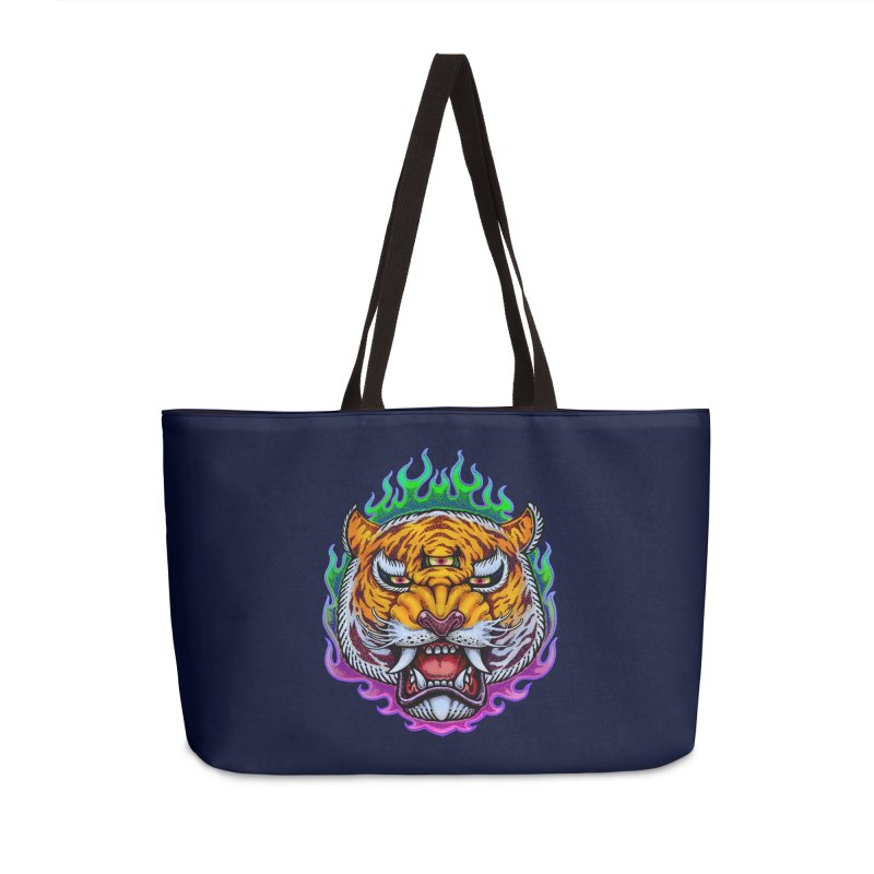Third Eye Tiger Accessories Bag by villainmazk's Artist Shop