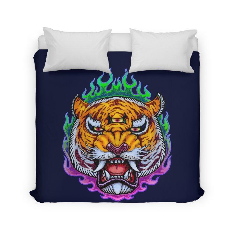 Third Eye Tiger Home Duvet by villainmazk's Artist Shop