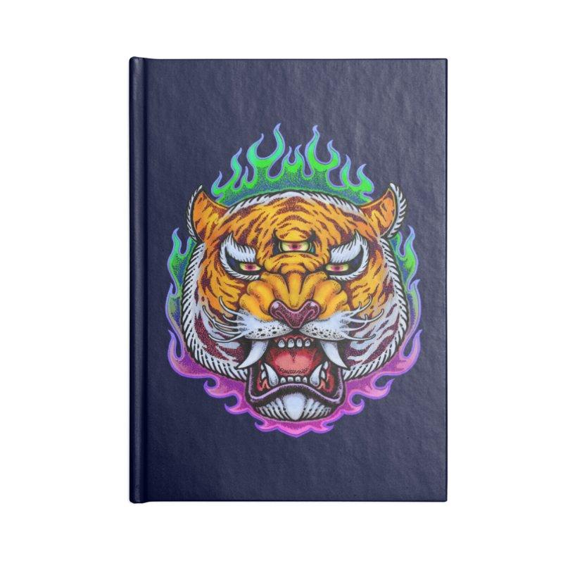 Third Eye Tiger Accessories Lined Journal Notebook by villainmazk's Artist Shop
