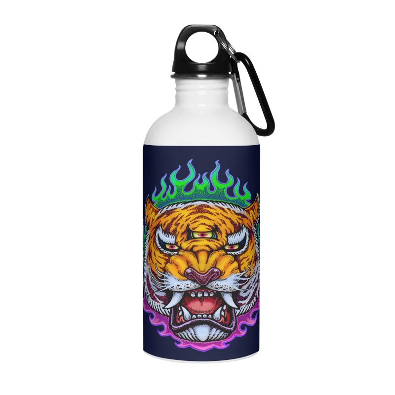 Third Eye Tiger Accessories Water Bottle by villainmazk's Artist Shop