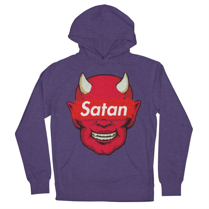 Satan Supreme Men's French Terry Pullover Hoody by villainmazk's Artist Shop