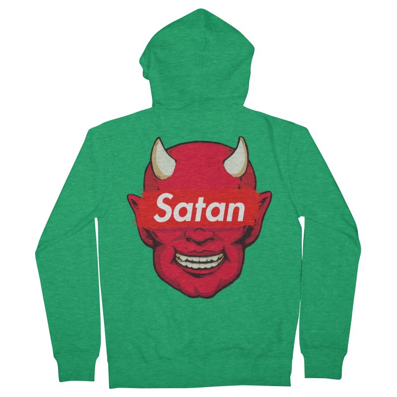 Satan Supreme Men's Zip-Up Hoody by villainmazk's Artist Shop