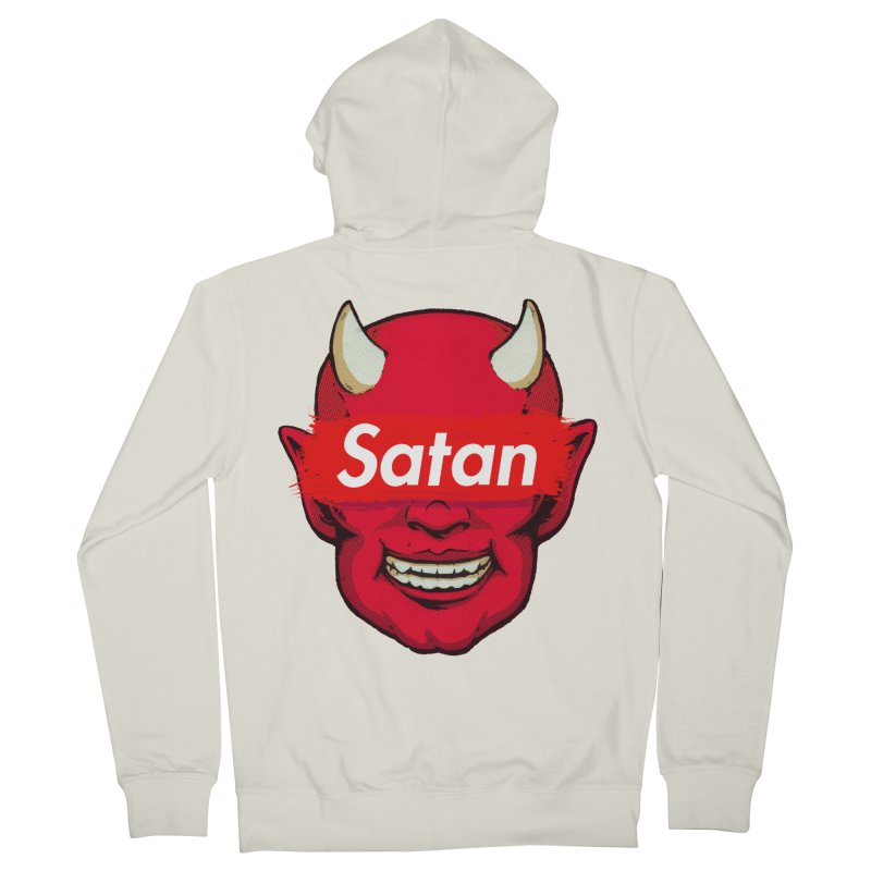Satan Supreme Men's French Terry Zip-Up Hoody by villainmazk's Artist Shop