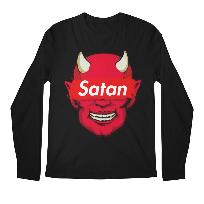 Satan Supreme Men's Regular Longsleeve T-Shirt by villainmazk's Artist Shop