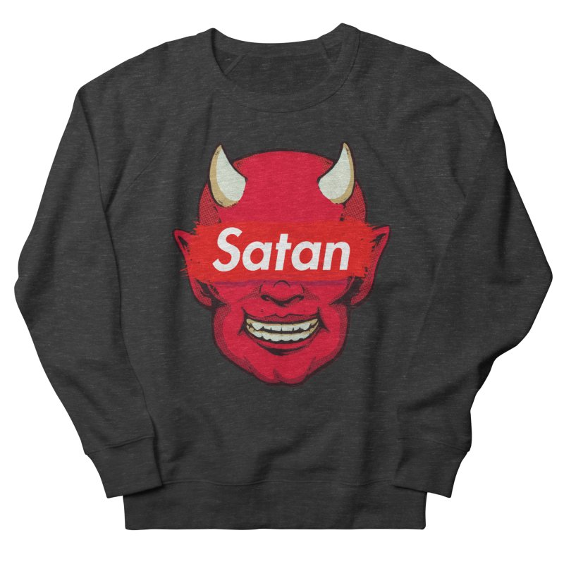 Satan Supreme Women's French Terry Sweatshirt by villainmazk's Artist Shop