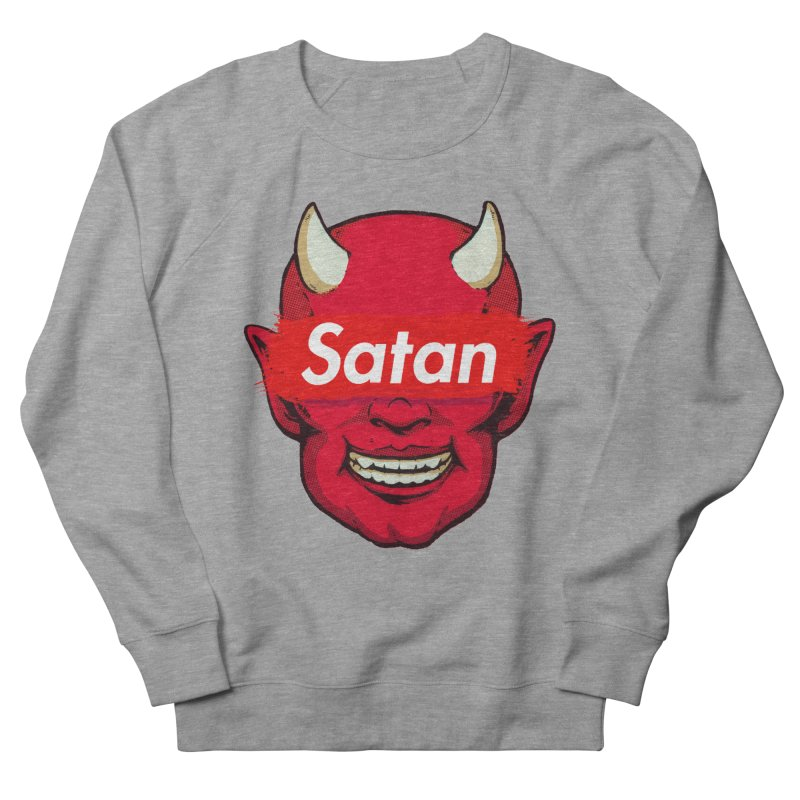 Satan Supreme Men's French Terry Sweatshirt by villainmazk's Artist Shop