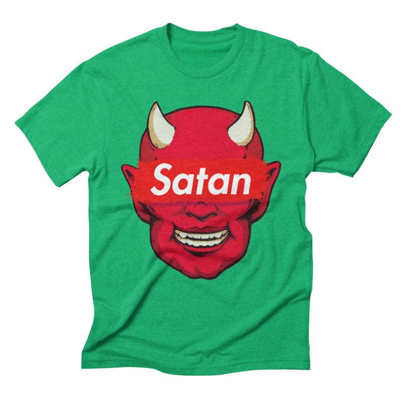Satan Supreme Men's Triblend T-Shirt by villainmazk's Artist Shop
