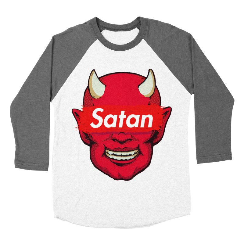 Satan Supreme Women's Baseball Triblend Longsleeve T-Shirt by villainmazk's Artist Shop