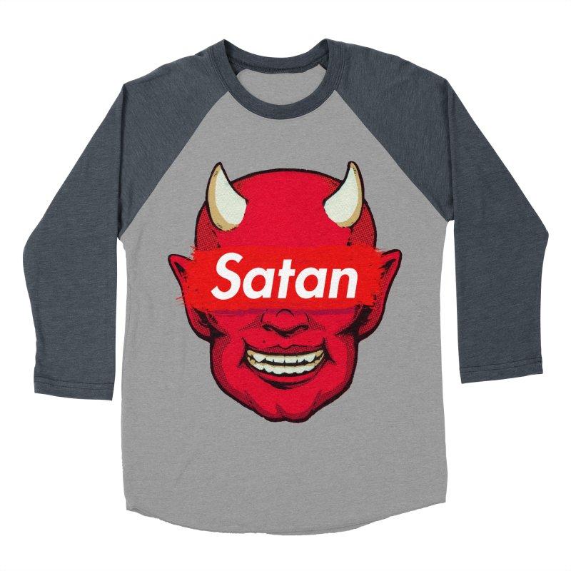 Satan Supreme Women's Baseball Triblend Longsleeve T-Shirt by villainmazk's Artist Shop