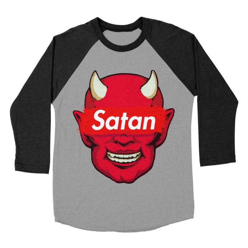 Satan Supreme Men's Baseball Triblend Longsleeve T-Shirt by villainmazk's Artist Shop
