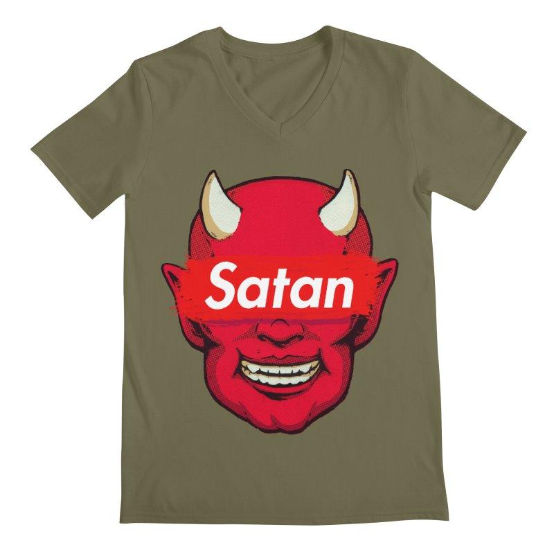 Satan Supreme Men's Regular V-Neck by villainmazk's Artist Shop