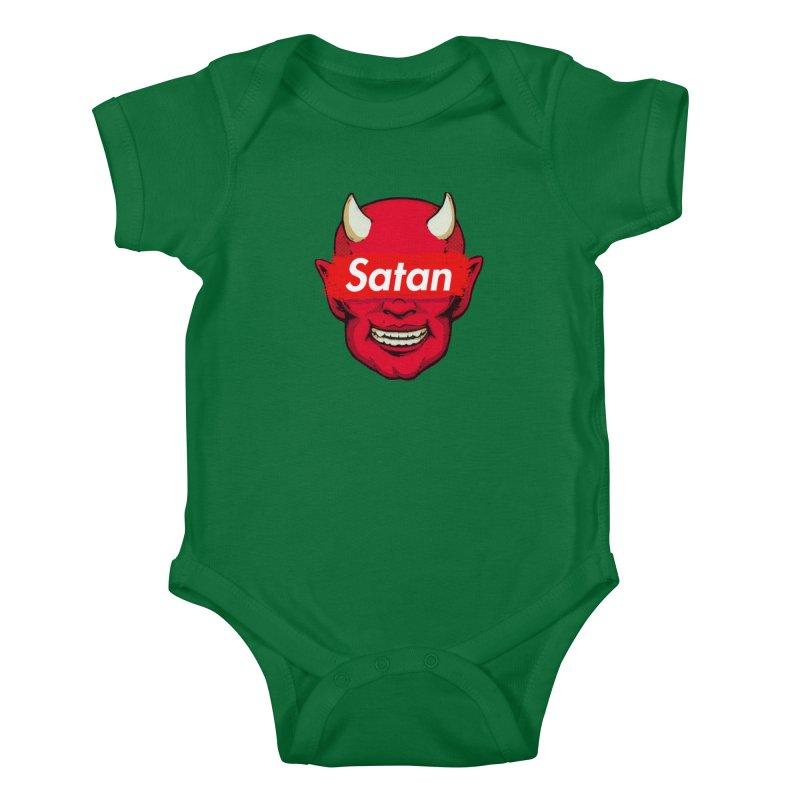 Satan Supreme Kids Baby Bodysuit by villainmazk's Artist Shop
