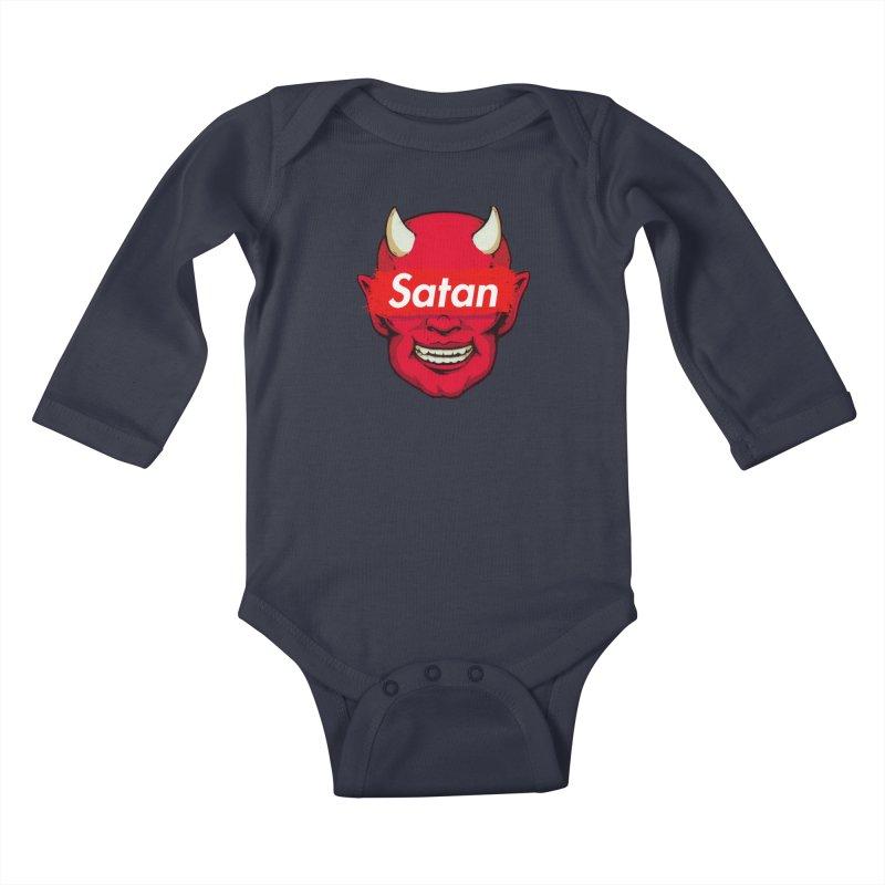 Satan Supreme Kids Baby Longsleeve Bodysuit by villainmazk's Artist Shop
