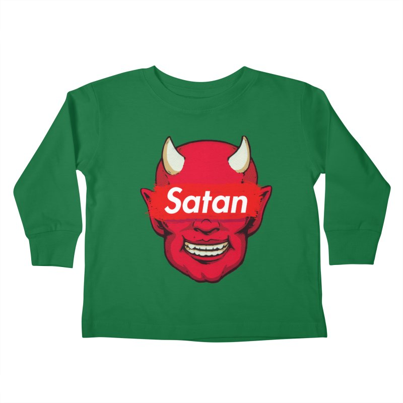Satan Supreme Kids Toddler Longsleeve T-Shirt by villainmazk's Artist Shop