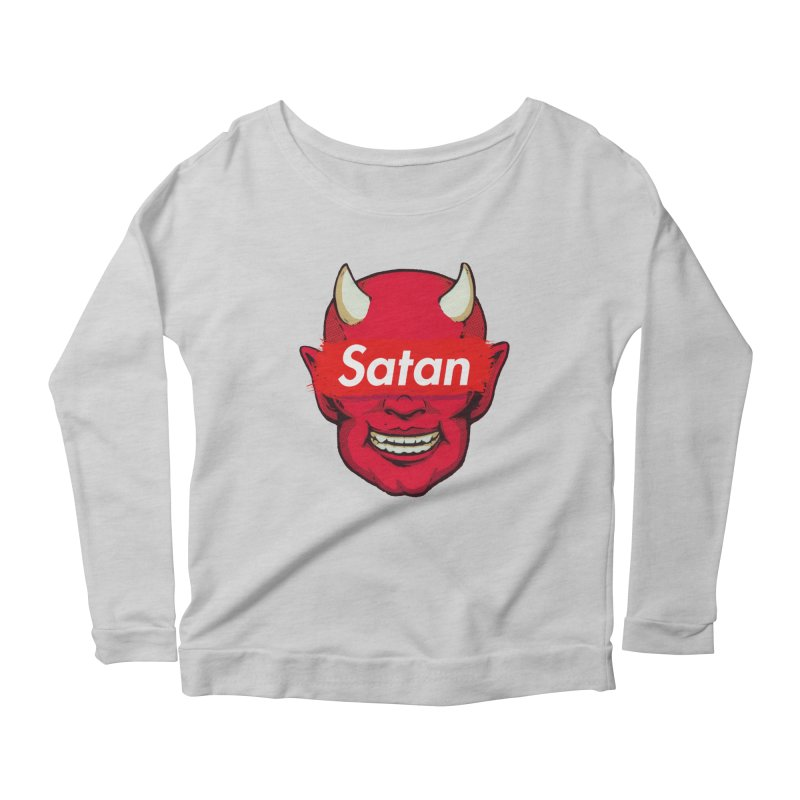 Satan Supreme Women's Scoop Neck Longsleeve T-Shirt by villainmazk's Artist Shop