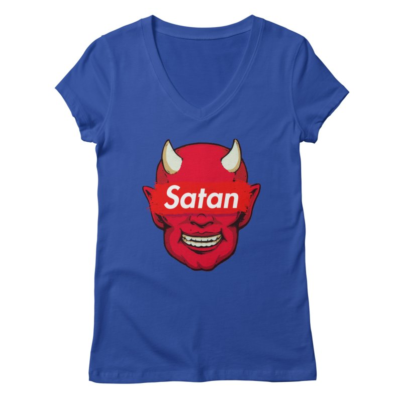 Satan Supreme Women's V-Neck by villainmazk's Artist Shop