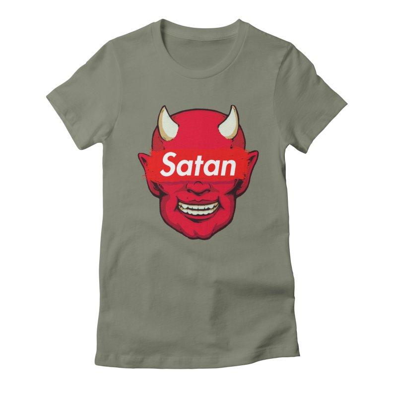 Satan Supreme Women's Fitted T-Shirt by villainmazk's Artist Shop