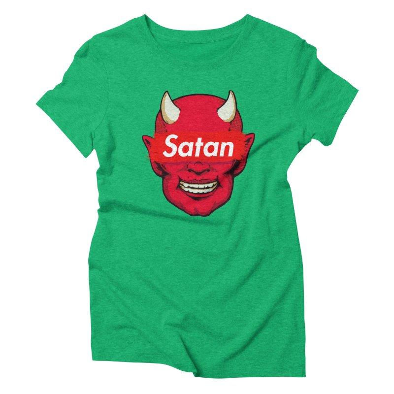 Satan Supreme Women's Triblend T-Shirt by villainmazk's Artist Shop