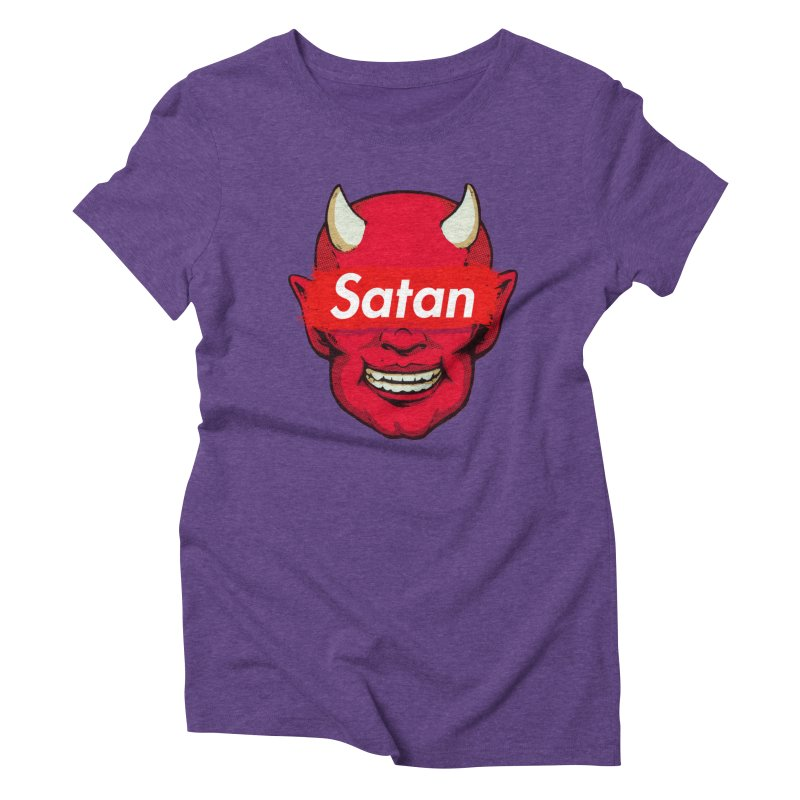 Satan Supreme Women's Triblend T-Shirt by villainmazk's Artist Shop
