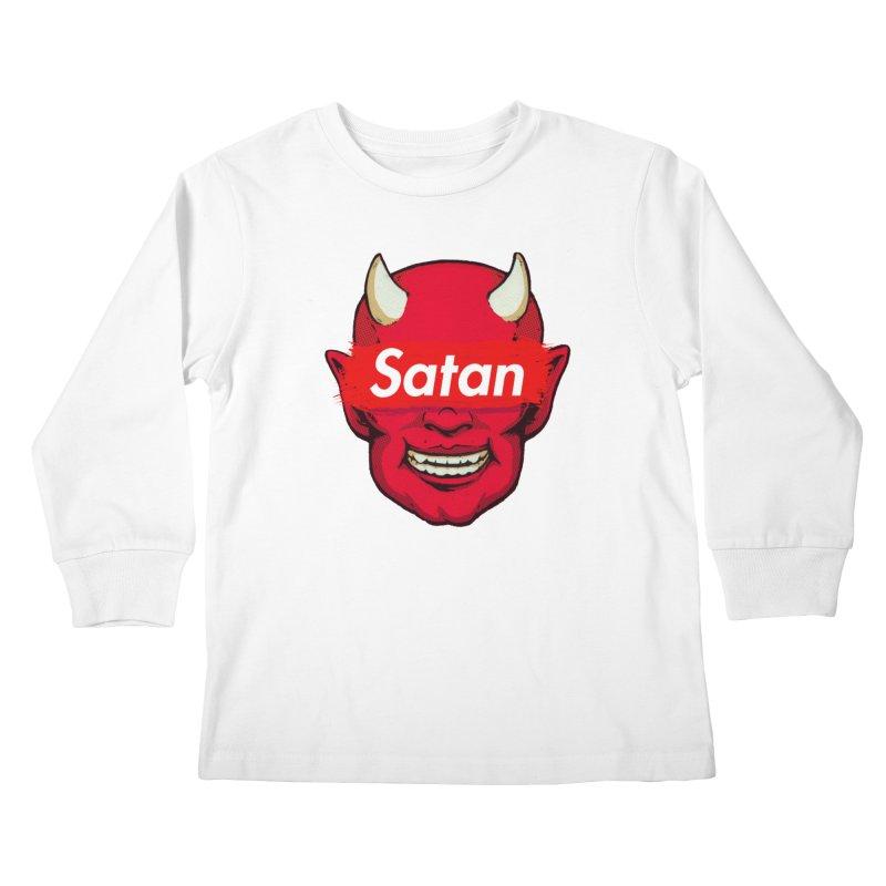 Satan Supreme Kids Longsleeve T-Shirt by villainmazk's Artist Shop