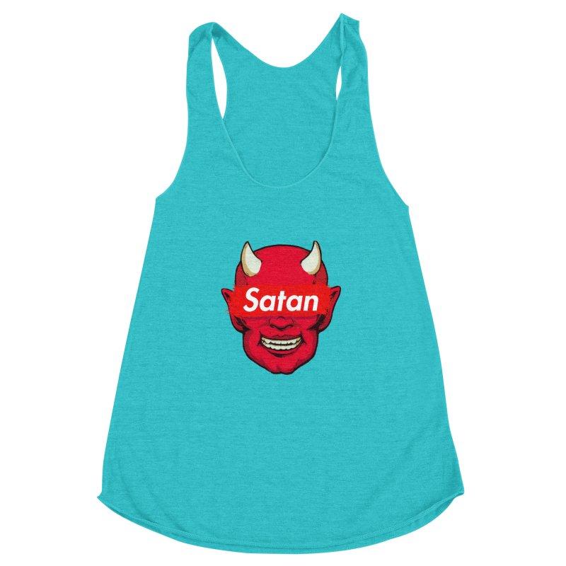 Satan Supreme Women's Racerback Triblend Tank by villainmazk's Artist Shop