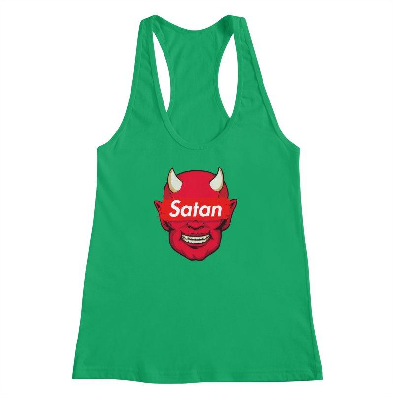 Satan Supreme Women's Racerback Tank by villainmazk's Artist Shop