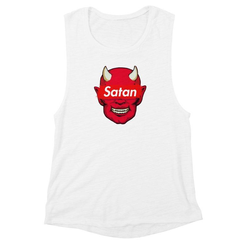 Satan Supreme Women's Muscle Tank by villainmazk's Artist Shop