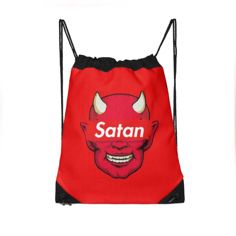 Satan Supreme Accessories Drawstring Bag Bag by villainmazk's Artist Shop