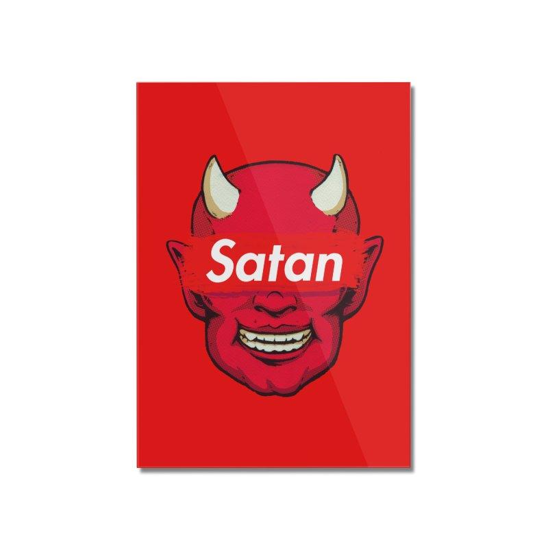 Satan Supreme Home Mounted Acrylic Print by villainmazk's Artist Shop