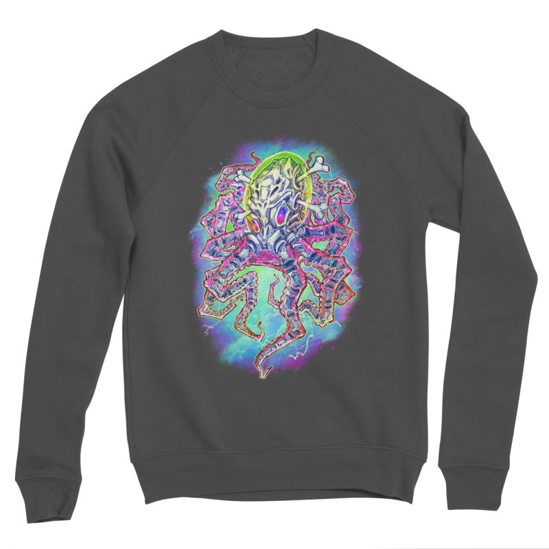 Skeleton Octopus Alien Men's Sponge Fleece Sweatshirt by villainmazk's Artist Shop