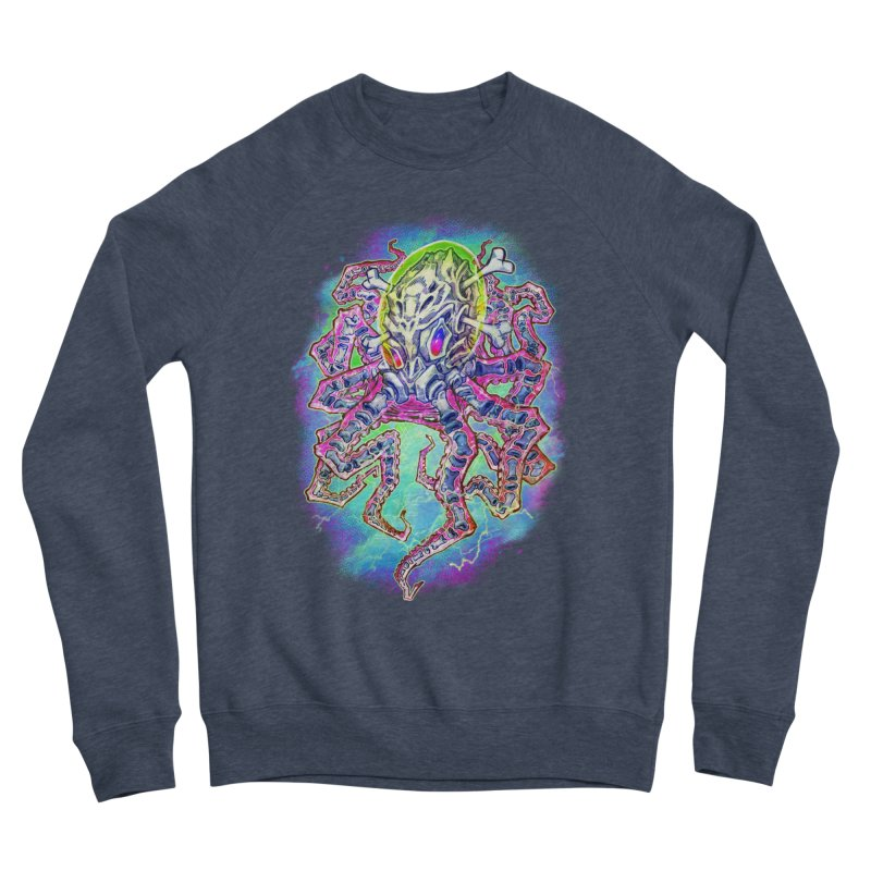 Skeleton Octopus Alien Women's Sponge Fleece Sweatshirt by villainmazk's Artist Shop
