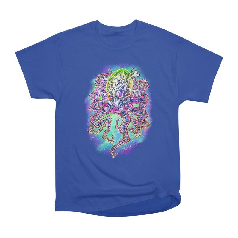 Skeleton Octopus Alien Women's Heavyweight Unisex T-Shirt by villainmazk's Artist Shop